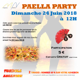 Paella Party Marignane Natation 24 Juin 2018