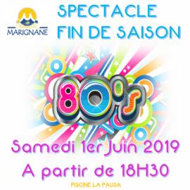 Spectacle fin de Saison 2019 «les Années 80's»